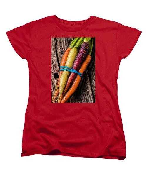 Rainbow Carrots Women's T-Shirt (Standard Cut) by Garry Gay
