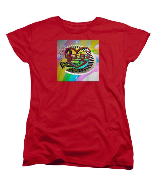 Rainbow Love Of Music  Women's T-Shirt (Standard Cut) by Louis Ferreira
