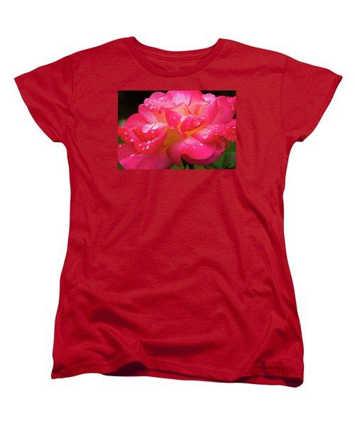 Rainbow Sorbet Raindrops Women's T-Shirt (Standard Cut)