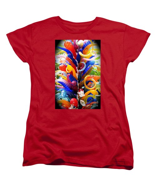 Rainbow Spirals Women's T-Shirt (Standard Cut)