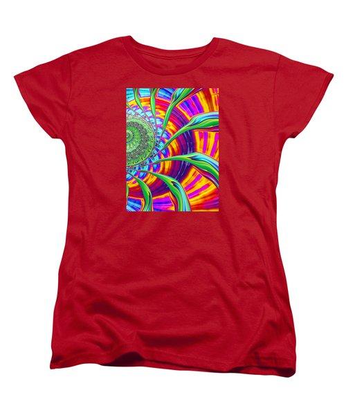 Women's T-Shirt (Standard Cut) featuring the photograph Rainbow Sun by Ronda Broatch