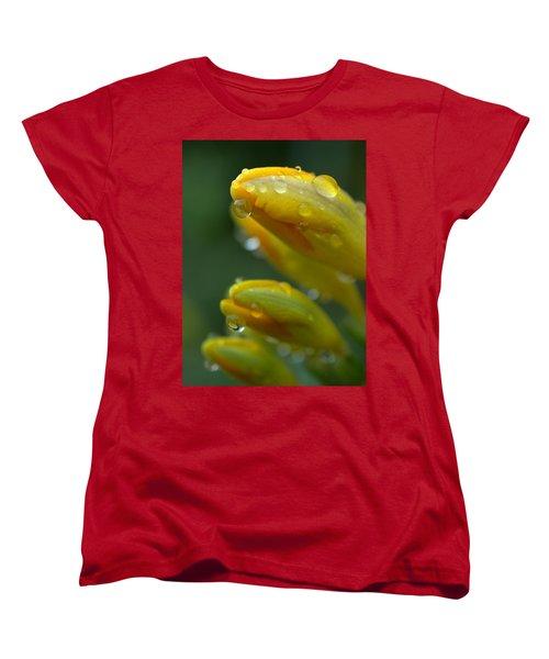 Raindrops Women's T-Shirt (Standard Cut) by Rachel Mirror