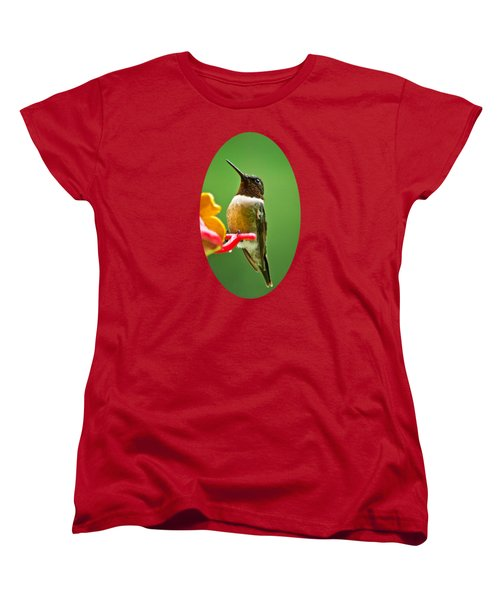 Rainy Day Hummingbird Women's T-Shirt (Standard Cut) by Christina Rollo