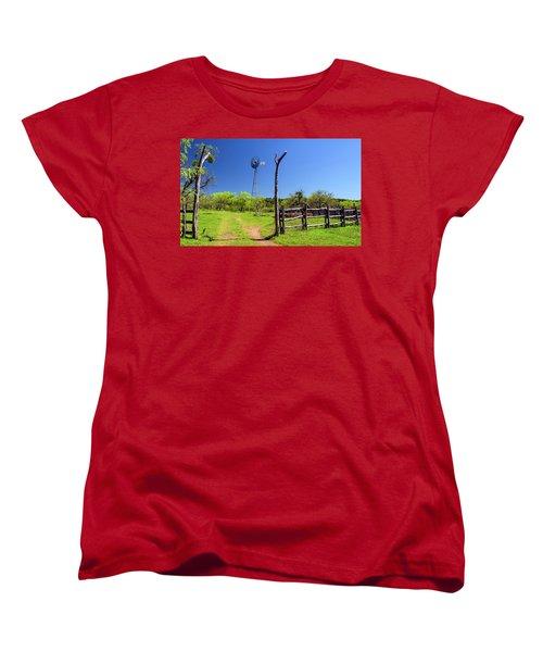 Ranch At Click Gap II Women's T-Shirt (Standard Cut) by Greg Reed