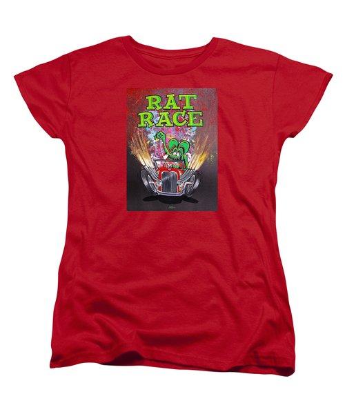 Rat Race Women's T-Shirt (Standard Cut) by Alan Johnson