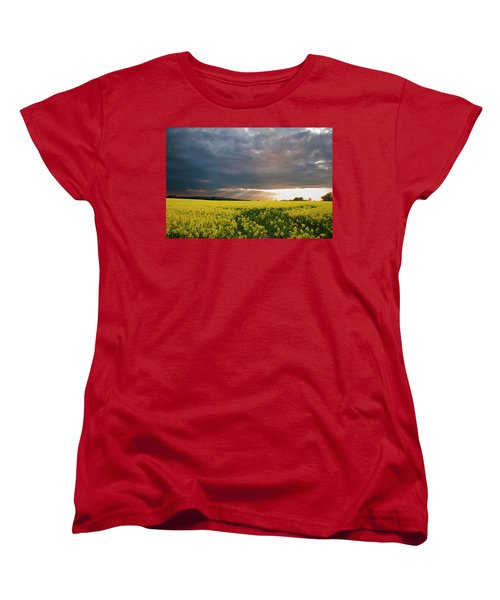 Rays At Sunset Women's T-Shirt (Standard Cut) by Rob Hemphill