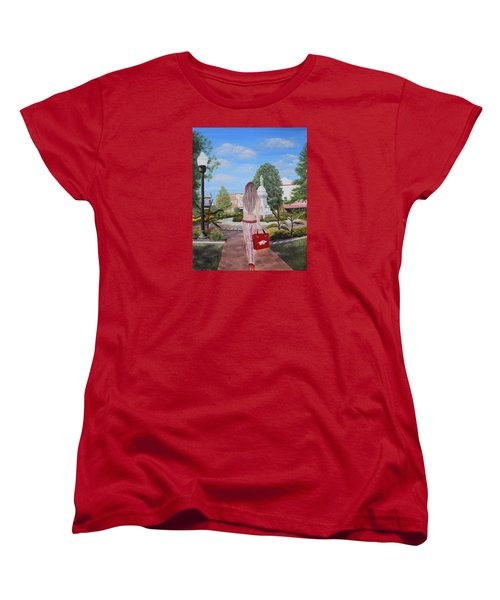 Razorback Swagger At Bentonville Square Women's T-Shirt (Standard Cut) by Belinda Nagy