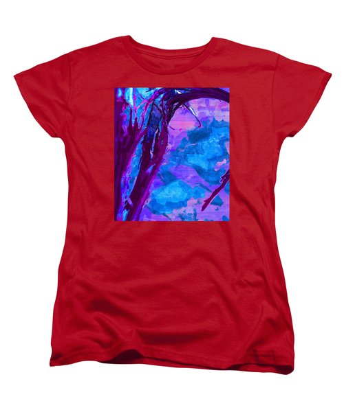 Reaching Into Blue Women's T-Shirt (Standard Cut) by Samantha Thome
