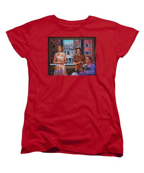 Women's T-Shirt (Standard Cut) featuring the painting Rear Window by Michael Frank
