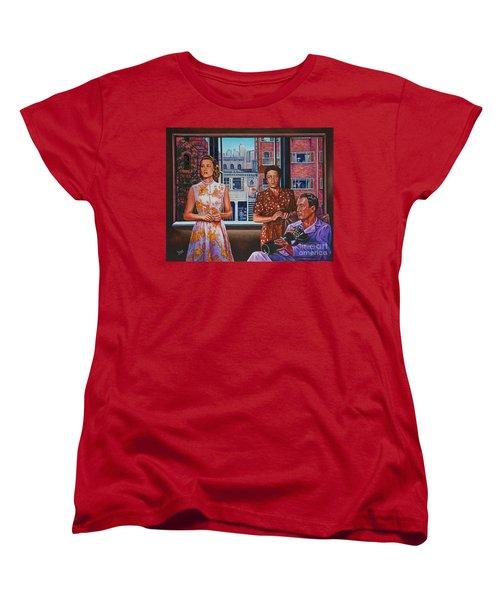 Rear Window Women's T-Shirt (Standard Cut) by Michael Frank