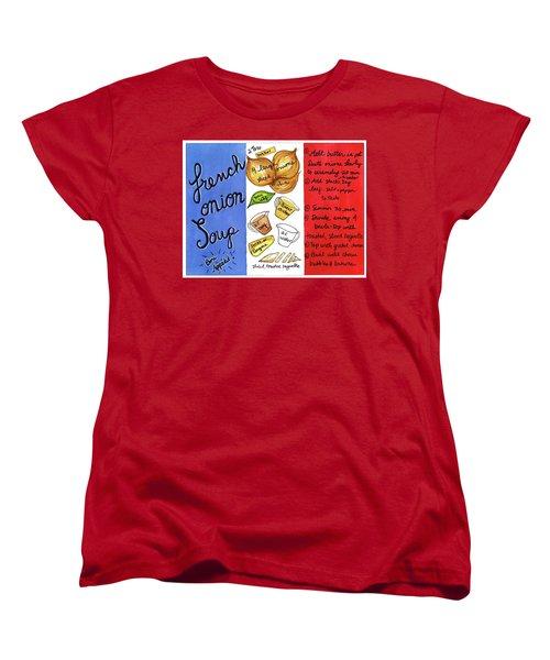 Recipe French Onion Soup Women's T-Shirt (Standard Cut)