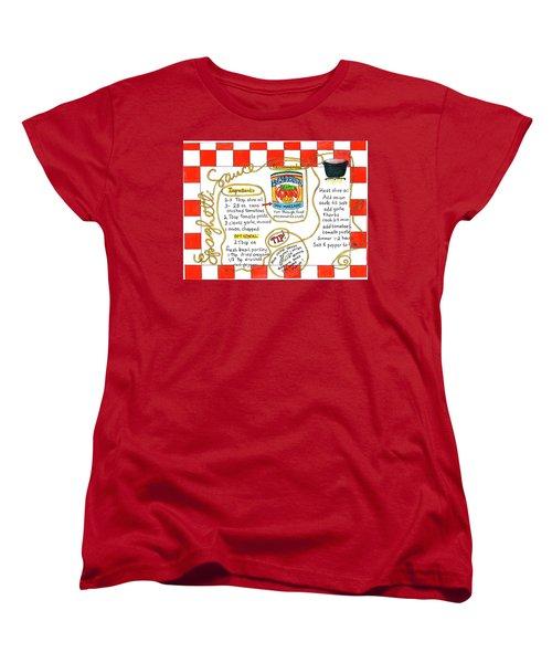 Recipe -spaghetti Sauce  Women's T-Shirt (Standard Cut)