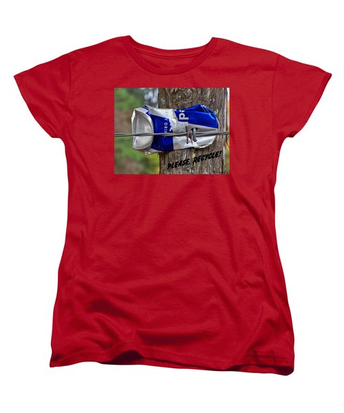 Women's T-Shirt (Standard Cut) featuring the photograph Recycle Please by Betty Northcutt