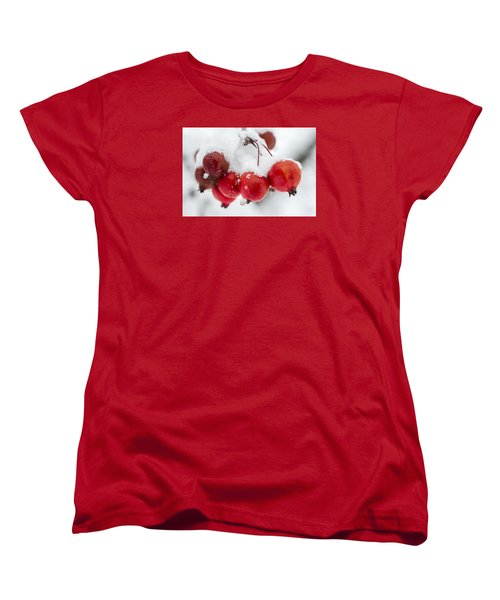 Red And White Women's T-Shirt (Standard Cut) by Sebastian Musial