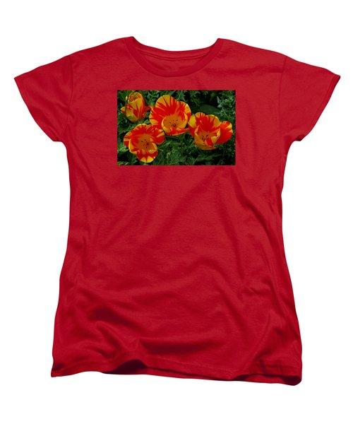 Red And Yellow Flower Women's T-Shirt (Standard Cut) by John Topman