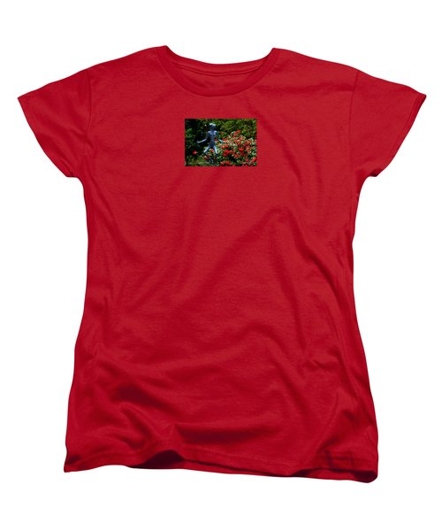 Women's T-Shirt (Standard Cut) featuring the photograph Red Azalea Lady by Susanne Van Hulst