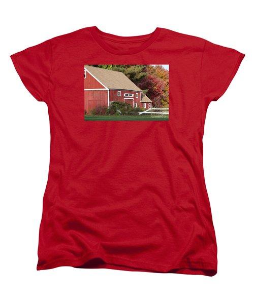 Red Barn Women's T-Shirt (Standard Cut) by Jim Gillen