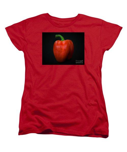 Red Bell Pepper Women's T-Shirt (Standard Cut) by Ray Shrewsberry