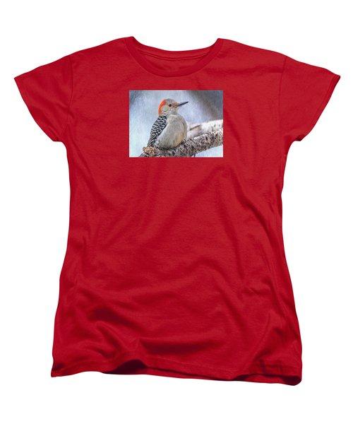 Red-bellied Woodpecker Women's T-Shirt (Standard Cut) by Patti Deters