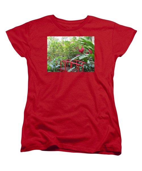 Red Bridge Women's T-Shirt (Standard Cut) by Teresa Wing