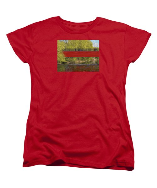 Women's T-Shirt (Standard Cut) featuring the photograph Red Bridge by Vladimir Kholostykh