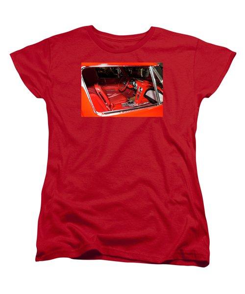 Red Corvette Stingray Women's T-Shirt (Standard Cut) by Amyn Nasser
