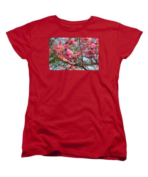 Red Dogwood Flowers Women's T-Shirt (Standard Cut)