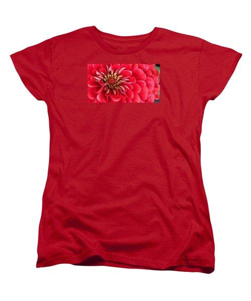 Red Explosion Women's T-Shirt (Standard Cut) by Bruce Bley