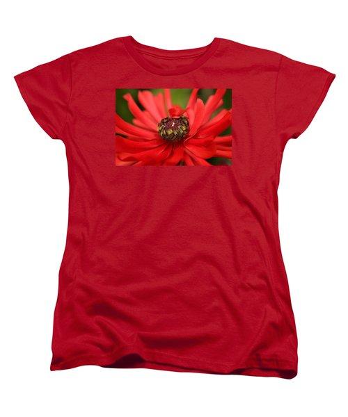 Red Flower Women's T-Shirt (Standard Cut) by Ralph A  Ledergerber-Photography