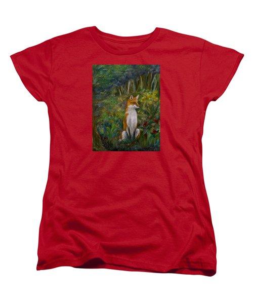 Red Fox Women's T-Shirt (Standard Cut) by FT McKinstry