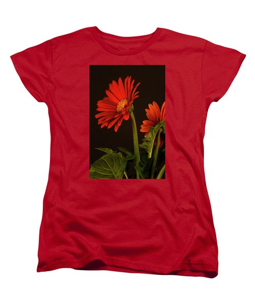 Red Gerbera Daisy 1 Women's T-Shirt (Standard Cut) by Richard Rizzo