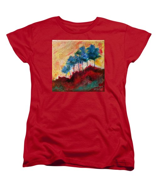 Red Glade Women's T-Shirt (Standard Cut) by Elizabeth Fontaine-Barr
