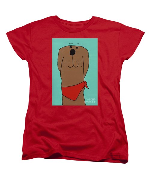 Red Kerchief Women's T-Shirt (Standard Cut) by Sean Brushingham