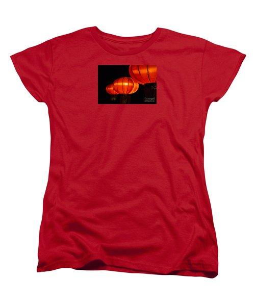Red Lanterns Women's T-Shirt (Standard Cut) by Rebecca Davis