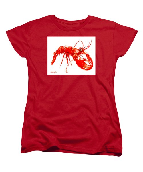 Red Lobster Women's T-Shirt (Standard Cut) by Suren Nersisyan