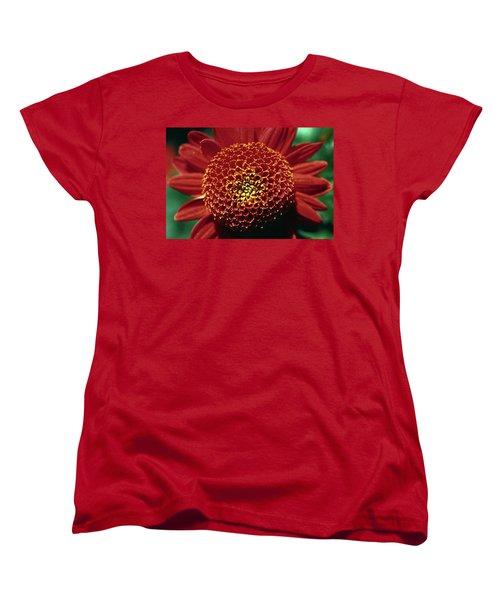 Red Mum Center Women's T-Shirt (Standard Cut) by Sally Weigand