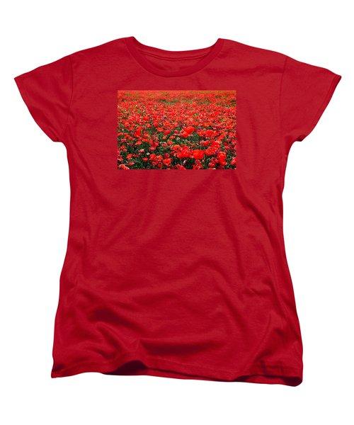 Red Poppies Women's T-Shirt (Standard Cut) by Juergen Weiss
