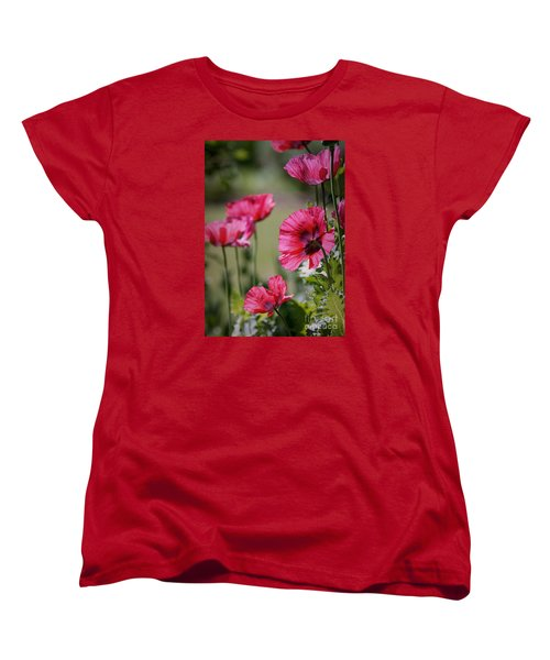 Red Poppies Women's T-Shirt (Standard Cut) by Lisa L Silva