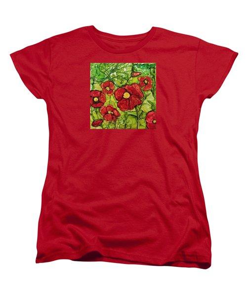 Red Poppies Women's T-Shirt (Standard Cut)