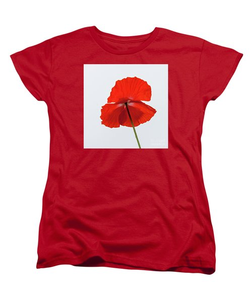 Red Poppy Women's T-Shirt (Standard Cut)