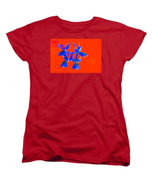 Red Provence Orchid Women's T-Shirt (Standard Cut) by Richard Patmore