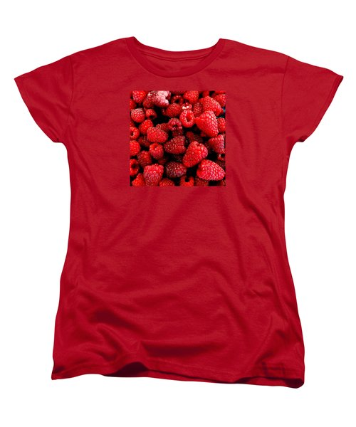 Women's T-Shirt (Standard Cut) featuring the photograph Red Raspberries by Nick Kloepping