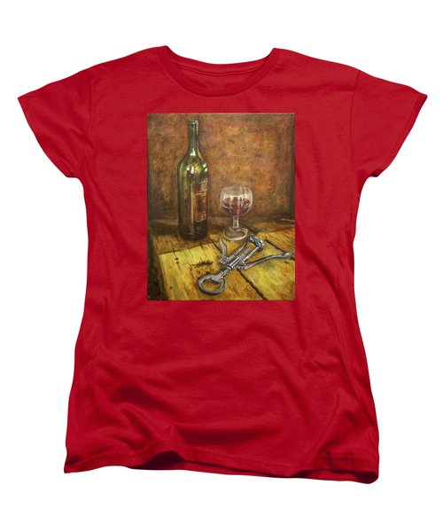 Red Red Wine Women's T-Shirt (Standard Cut) by Marty Garland
