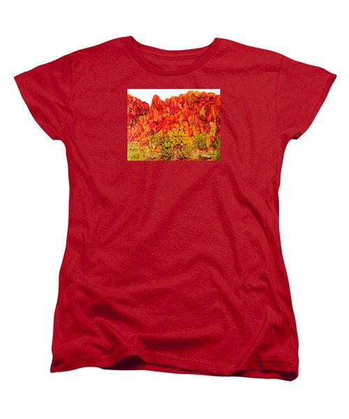 Red Rock Canyon Veiw From The Loop Women's T-Shirt (Standard Cut) by Vicki  Housel