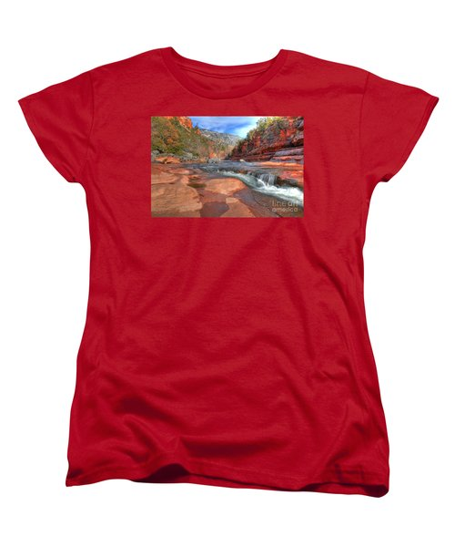 Women's T-Shirt (Standard Cut) featuring the photograph Red Rock Sedona by Kelly Wade