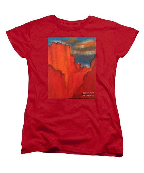 Women's T-Shirt (Standard Cut) featuring the painting Red Rocks by Kim Nelson