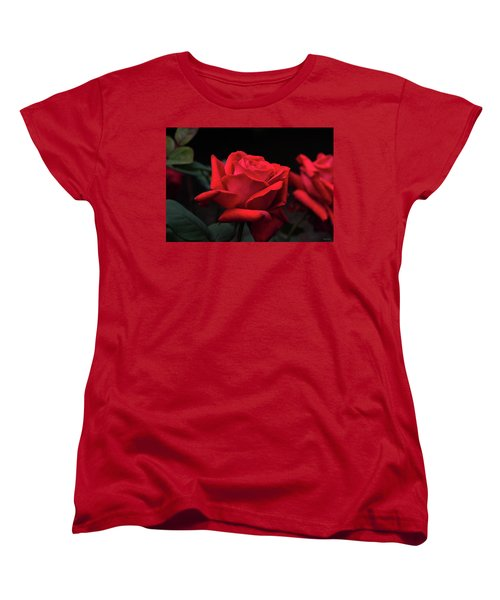Women's T-Shirt (Standard Cut) featuring the photograph Red Rose 014 by George Bostian