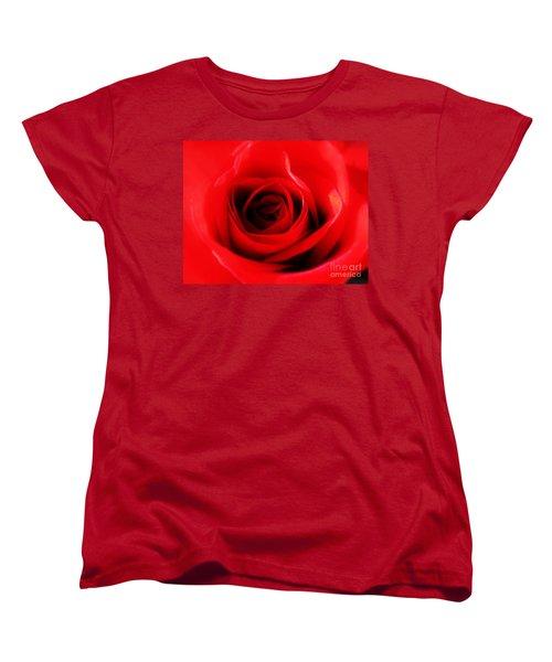 Red Rose Women's T-Shirt (Standard Cut) by Nina Ficur Feenan