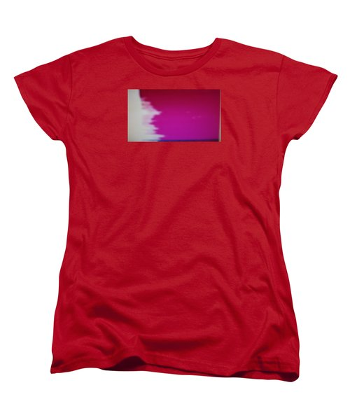 Women's T-Shirt (Standard Cut) featuring the painting Red Sky by Don Koester