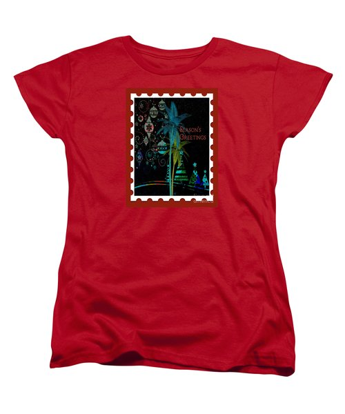Women's T-Shirt (Standard Cut) featuring the digital art Red Stamp by Megan Dirsa-DuBois